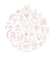unique concept with different christmas vector image vector image