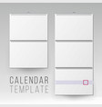 wall calendar mock up template square vector image vector image