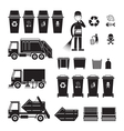Waste Collection Truck Bin Dumpster Sweeper vector image