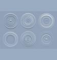 water circles realistic round shapes liquids vector image vector image
