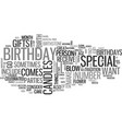 why celebrate a birthday text word cloud concept vector image vector image