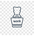 working concept linear icon isolated on vector image