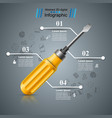 wrench screwdriver repair icon business vector image vector image