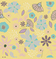 yellow flowers seamless pattern vector image vector image