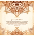 Vintage tribal style lacy abstract background vector image