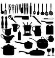 Kitchen tools Silhouette vector image
