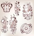set of tattoo vector image