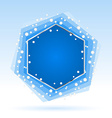 Abstract blue hexagon vector image