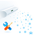 air conditioners fun service element white blue vector image