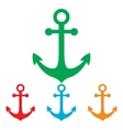 Anchor sign Colorfull set vector image