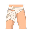 bandage or hip bandaging stretching or dislocation vector image vector image