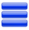 blue buttons blank icons with stripe design vector image vector image