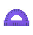 blue protractor icon isolated vector image vector image