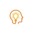 brain idea logo icon design vector image vector image