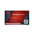 business card black and red background imag vector image