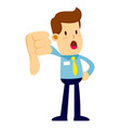 businessman doing thumbs down hand sign vector image vector image