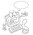 Cartoon Computer vector image vector image