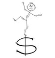 cartoon man or businessman balancing on vector image vector image
