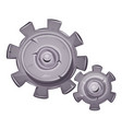 cartoon stone gears vector image