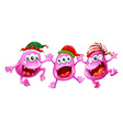 Christmas theme with three aliens vector image vector image