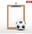 Coaching blank clipboard vector image vector image