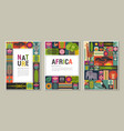 collection trendy creative cards vector image vector image