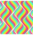 colored seamless abstract pattern waves background vector image vector image