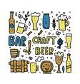 craft beer elements set vector image