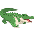 crocodile with cub vector image