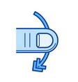 cross-slide line icon vector image