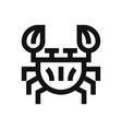 crustacean icon vector image