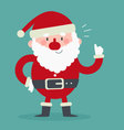 Cute Santa with Thumbs Up vector image