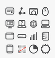 Different SEO icons set vector image