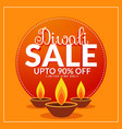 diwali festival discount and sale poster template vector image vector image