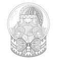 entangle christmas snow globe with santa claus vector image