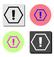 exclamation mark flat icon vector image