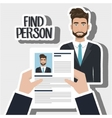 find person man hand vector image