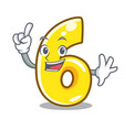 finger number six isolated on the mascot vector image
