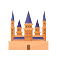 flat icon of royal palace castle with high vector image vector image