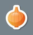 fresh onion head sticker tasty vegetable icon vector image