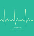 heart pulse outline graphic health background vector image