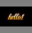 hello word text banner postcard logo icon design vector image vector image