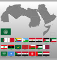 high quality map arab world vector image