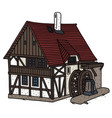 historical water mill vector image vector image