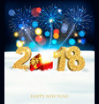 holiday christmas background with a firework and vector image vector image