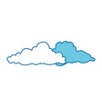 isolated cute clouds vector image vector image