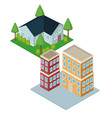 isometric city 3d vector image