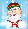 jamaican santa claus mascot cartoon vector image vector image