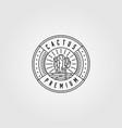 line art cactus logo minimalist design vector image vector image