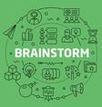 linear brainstorm vector image vector image